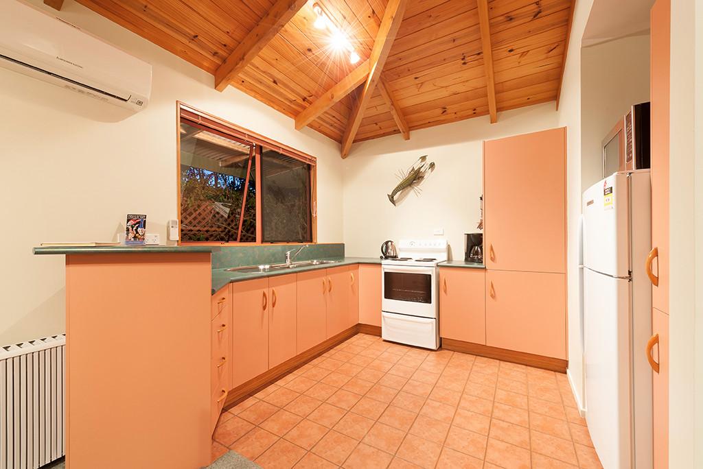 kitchen in pohutukawa cottage