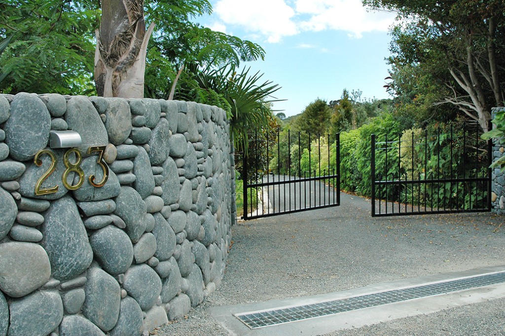 Secure gates at Sanctuary in the Cove entrance